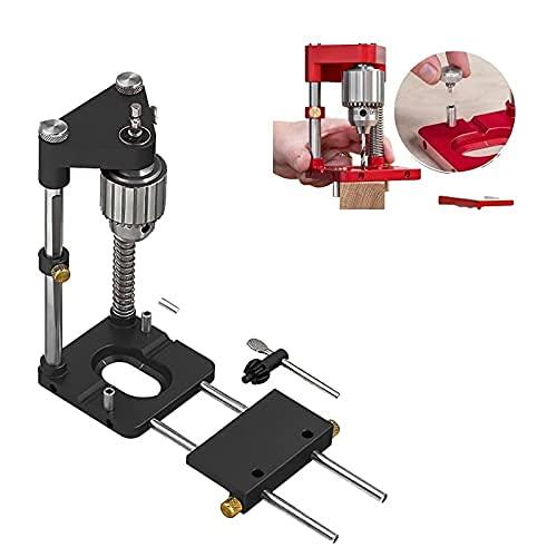 Komopesu Best Woodworking Drill Positioner of 2021, Holzbearbeitungsbohrer, Präzisions-Positionierwerkzeug, verstellbarer Bohrer, Positionierer, Bohrschablone, für Möbelreparatur