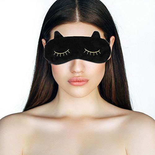 Slaap oogmasker schattige dieren draagbaar reis-oogmasker eye cover slaapmasker mooie kat cartoon oogschaduw oogstrip