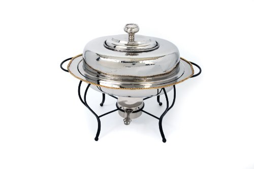 Star Home 4-Quart Oval Stainless Steel Chafing Dish