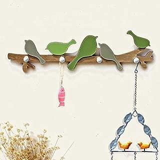 SOMITI | Hooks & Rails | European Retro Style Hanger Organizer DIY Simple Zakka Hook Green Bird Hook Wood Coat SundriesTools Hanger Wall Mounts Room