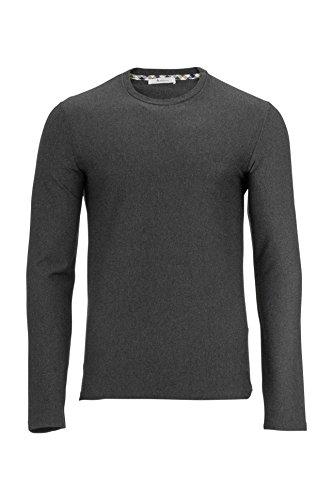 Aquascutum Herren Shirt Langarmshirt T_Shirt, Farbe: Dunkelgrau, Größe: 3XL