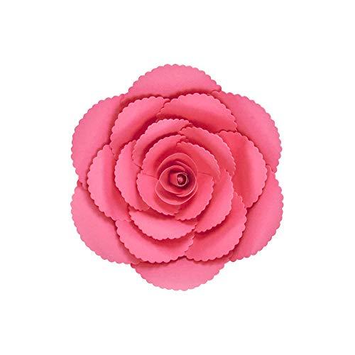 SKYLANTERN Fleur en Papier Rose Ancienne Fuchsia 20 cm