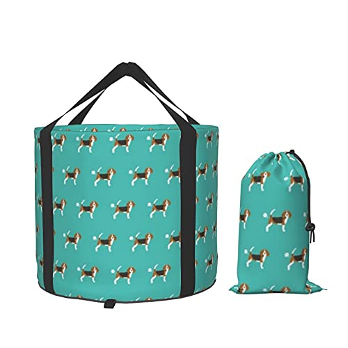 Beagle Dog Fart Contenedor de almacenamiento plegable portátil divertido para camping, barco, pesca