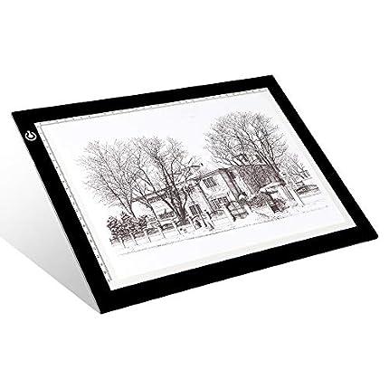 A4 Tracing Light Box - LitEnergy 9x12 Pulgadas Light Pad Ultra-delgado Sólo 5mm USB Power Mesa de Luz para Artistas, Dibujo, Dibujo, Animación