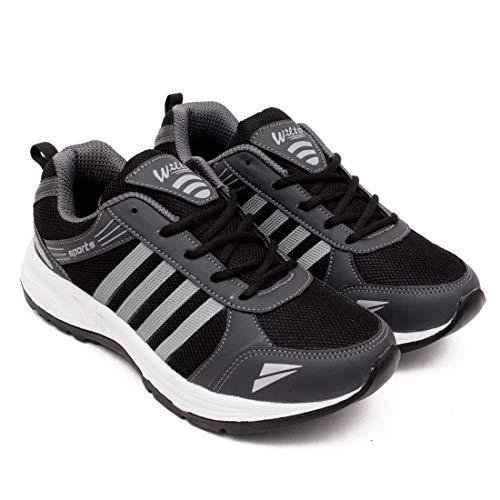 ASIAN Wonder-13 Black Silver Running,Sports,Walking Shoes for Men Black Silver