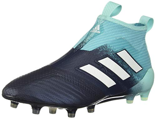 adidas Men's ACE 17+ Purecontrol Firm Ground Boots Soccer, Energy Aqua/Footwear White/Legend Ink, 9 M US