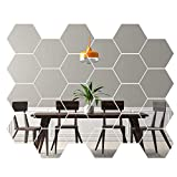Gsyamh Adhesivo De Pared De Espejo Hexagonal Espejo Hexagonal 3D Decorativo De...