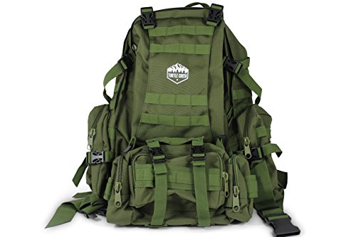 Turtle Creek 50L Hiking Backpack - Durable Tactical Backpack with 1000D Nylon - Water Resistant Camping Backpack - Sturdy Tactical Rucksack for Hunting and Trekking - Military Backpack