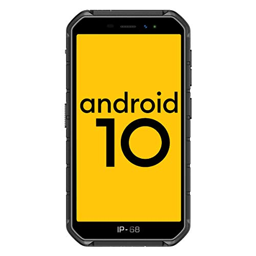 Ulefone Armor X7 Pro (2020),4G Android 10 Móvil Libre Resistente, Telefonos Robusto (4GB + 32GB) 5.0''HD, IP68 Impermeable Smartphone,Dual Cámara 4000mAh batería, NFC/OTG/GPS/Facial ID,Negro