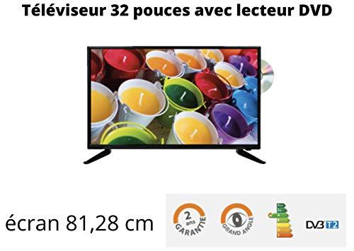 ANTARION TV + DVD LED 32' HD 12V/24V/220V Camping Car