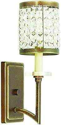Livex Lighting 50561 64 Gramercy 1 Light Wall Sconce Hand Painted Palacial Bronze Amazon Com