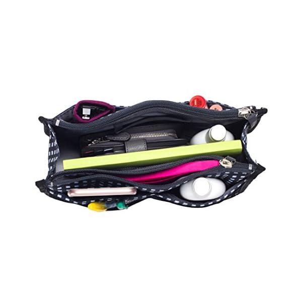 Handbag Purse Organizer in Premium Polyester – Sturdy Bag Insert with 13 Pockets