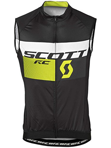 Scott RC Pro bicicleta Body Camiseta Negro/Rojo 2016, verano, hombre, color Negro - black/sulphur yellow, tamaño XL (54/56)