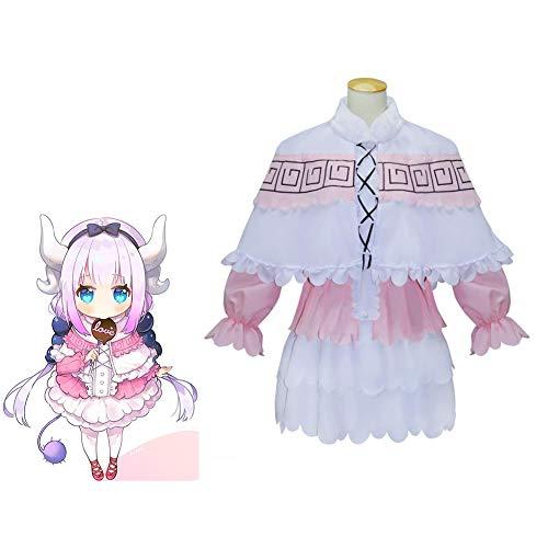 CGBF -Anime Miss Kobayashi 's Dragon Maid Kanna Cosplay Halloween carnaval, disfraz rosa, XL