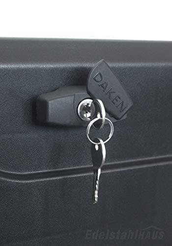 Deichselbox mit Schloss, Werkzeugkasten für Anhänger Staukiste 23 ltr Anhängerbox, Daken B23-1 - 7