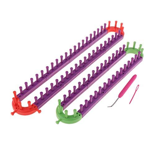 Tubayia Strickrahmen Knitting Loom Set mit Häkelnadel und Stricknadel für Mütze Schals Socken Basteln