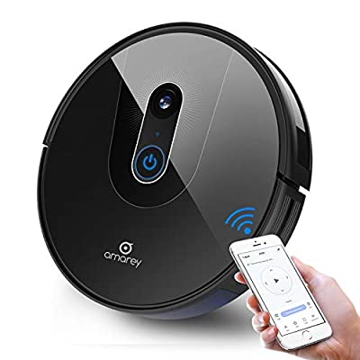 amarey A900 Smart Navigating Robotic Vacuum Cleaner ,Robot Vacuum for Pet Hair, Visual Mapping, Wi-Fi Connected, Works with Alexa, APP Control, Super Quiet, Self-Charging, Hard Floor Cleaning Robot