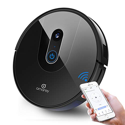 amarey A900 Robot Vacuum- Smart Navigating Robotic Vacuum Cleaner for Pet Hair, Visual Mapping, Wi-Fi Connected, Works with Alexa, APP Control,Strong Suction, Self-Charging, Hard Floor Cleaning Robot Dining Features Kitchen Robotic Vacuums