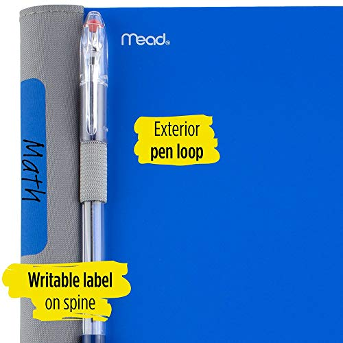 Five Star Advance Spiral Notebook, 5 Subject, College Ruled Paper, 200 Sheets, 11 Inches x 8-1/2 Inches, Blue (73150) Photo #2