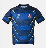 URPRU Réplica de Camiseta de fútbol de la Copa Mundial de Rugby 2019 Japón Local Visitante Hombres y Mujeres-Blue_M(170-175CM)
