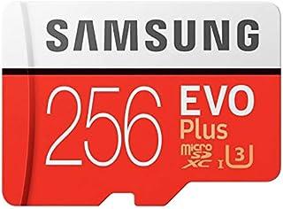Samsung Micro SDXC 256GB EVO Plus /w Adapter UHS-1 SDR104, Class 10, Grade 1 (U3), Up to 100MB/s read, 90MB/s Write, 10 Ye...