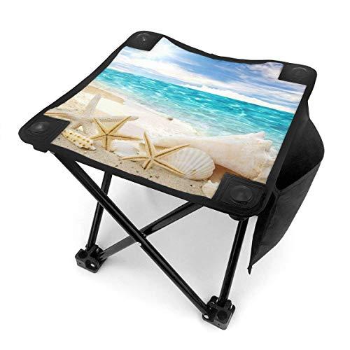 End Nazi Tabouret de Camping Chaises Pliantes Scorching Sun Beach Seashell Siège de Chaise Portable