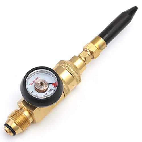 Yongse Latex Ballon Gas Inflator Filler Met Gauge Helium Tank Regulator voor G5/8 Tank Valves