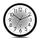 Night Light Wall Clock, 12 Inch Luminous Wall Clock Non-Ticking Glow in The Dark Wall Clock, Battery Operated Wall Clock Large Display for Bedroom Office Kitchen Living Room Décor