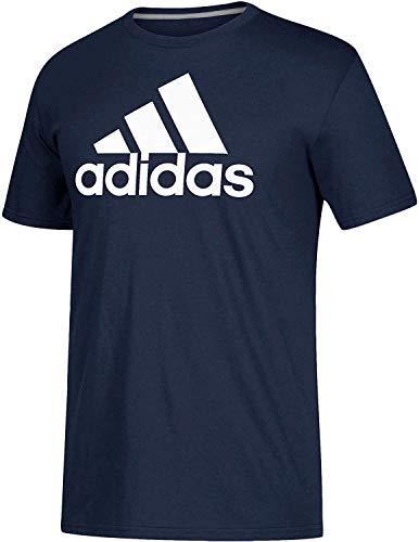 adidas - Camiseta deportiva para hombre (azul marino, talla pequeña)