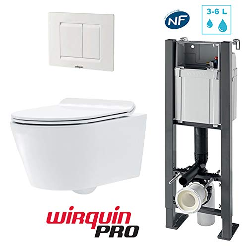 Pack complet WC suspendu autoportant SOHO :...