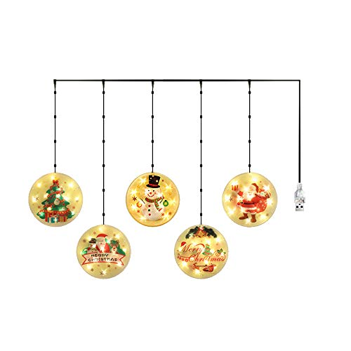 Lixada Christmas Hanging Light Waterproof Led Lighting Chains Indoor Outdoor Party Window Tree Decoration String Lamp