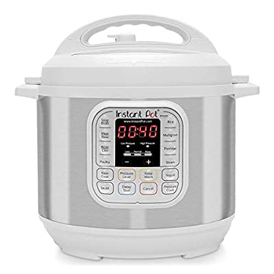 Instant Pot Duo 7-in-1 Electric Pressure Cooker,Steamer, Saute, Yogurt Maker,Warmer 6 Quart White 11 One-Touch Programs