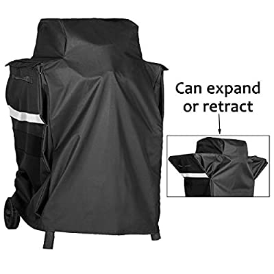 Utheer Grill Cover for Charbroil Electric Patio Bistro with Side Shelves, Compatible with Model 17602047 17602048 17602066 7767505R04