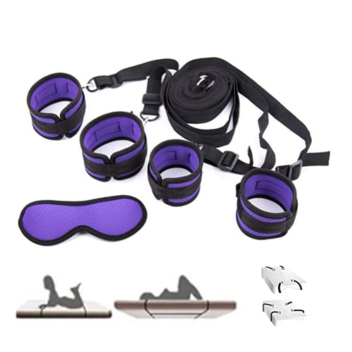 Kit de ejercicios de cama con cinturón para yoga con pies y manos fijas flexibles