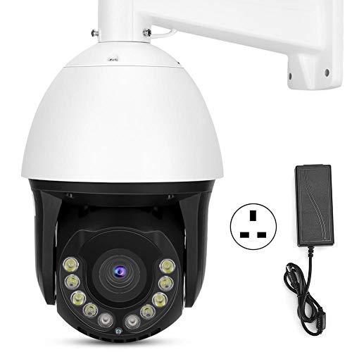 Deror 1080P HD 30X Zoom PTZ Cámara IP AI Humanoid Seguimiento Visión Nocturna IP66 Cam 100-240V (Reglamentos británicos (100-240V))