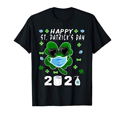 Trébol Trébol Irlandés En Una Máscara Feliz Día De San Camiseta