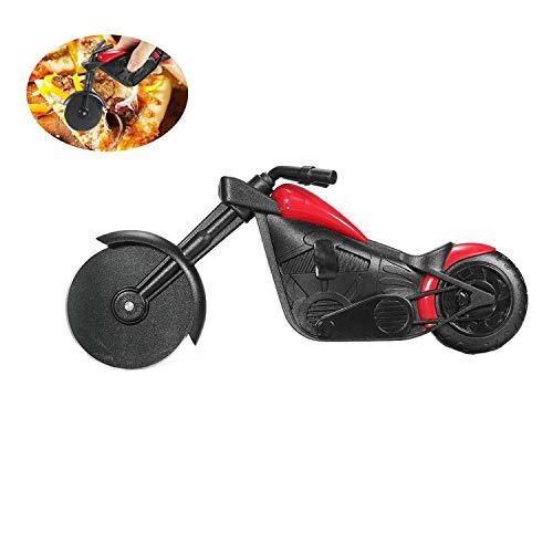Qiajie Motorrad Pizzaschneider Edelstahl Pizzarad Cutter für Küche