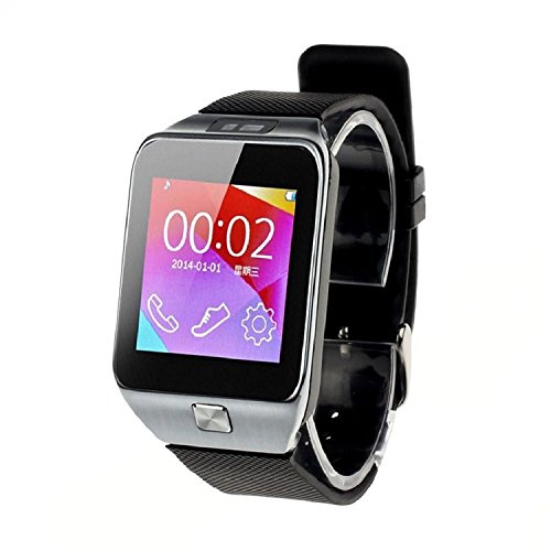 ParaCity Bluetooth 4.0 Smartwatch V8 1,54 Zoll Touchscreen mutifunktions Handy-Uhr für IOS Android Smartphone