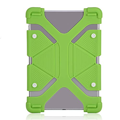 Funda de Silicona para Tableta, Protector de Cubierta para Tableta,(Green, 8.9-12 Inches)