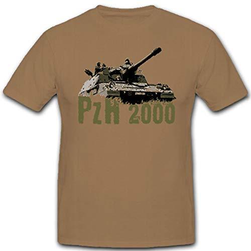 PzH 2000 Bundeswehr Bw Panzerhaubitze Artillerie - T Shirt #8748, Größe:XXL, Farbe:Sand