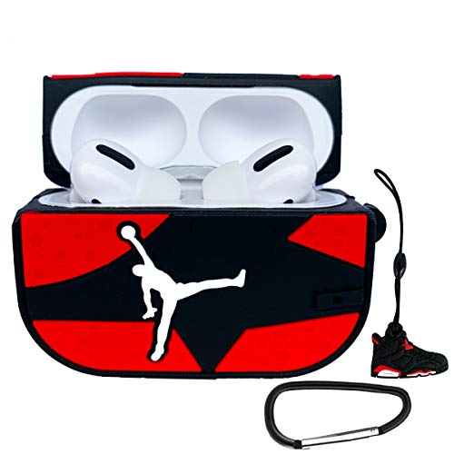 Airpods Pro Case,Shockproof Sports Stylish Cool Design Skin Accessories Cases (Red)