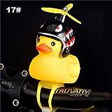 RVTYR Fahrrad-Kopf-Licht-Fahrrad-Glocke Kleine gelbe Gebrochene Wind Ente Helm Fahrradbeleuchtung Fahrradzubehör Moto Reitlicht, 23 fahrradhupe Kinder (Color : 17)