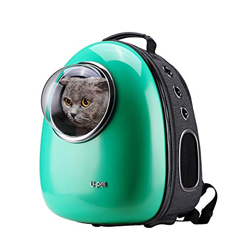 U-pet Bubble Pet Travel Backpack Carriers Green