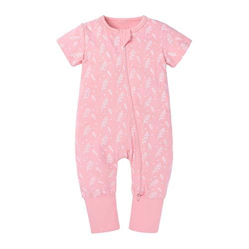 Xmiral Toddler Kids Unisex Zipper Cartoon Romper Boys Girls Short Sleeve...