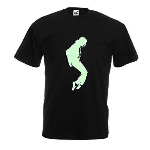 lepni.me Camisetas Hombre Me Encanta MJ - Ropa de Club de Fans, Ropa de Concierto (Medium Negro Fluorescente)