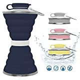 Best Collapsible Water Bottles - Hydropal Collapsible Water Bottle 500ml (17oz), Light-Weight Foldable Review