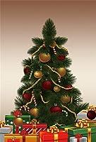 Qinunipoto クリスマス 写真撮影用 背景布 冬 布 撮影用 背景 バックペーパー クリスマスツリー クリスマスプレゼント 布バック 背景シート 背景紙 背景ポスター 写真館 撮影 小道具 自宅用 ビニール製 1.8x2.7m