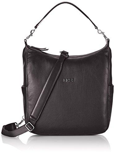 BREE Nola 6, black, backpack grained 206900006 Damen Rucksackhandtaschen 32x23x10 cm (B x H x T), Schwarz (black 900)