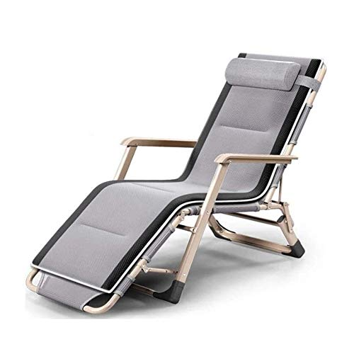 QIQCD Adjustable Lounge Chair, Zero Gravity Chair, Deck Folding Office Bed Adjustable Chaise Outdoor Patio Pool Beach Yard Lawn Recliner