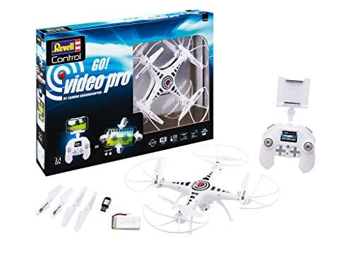 Revell Control 23818 Quadcopter GO Video PRO ferngesteuerte Drohne, weiß